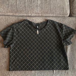 VICTORIA'S SECRET Sheer mesh crop top